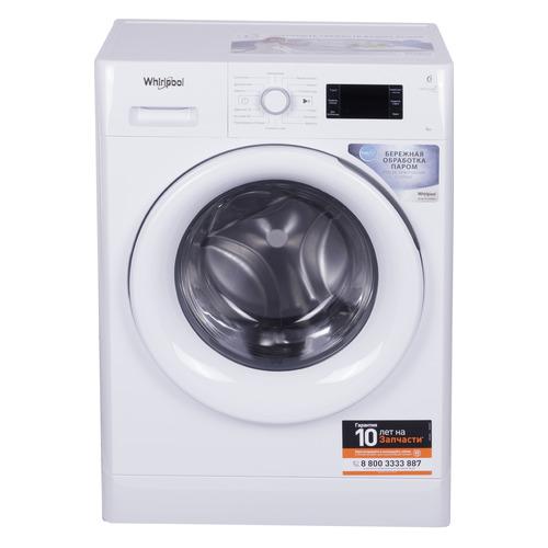 Фото - Стиральная машина WHIRLPOOL FWSG61053W RU, фронтальная, 6кг, 1000об/мин стиральная машина whirlpool fwsg 61283 wc