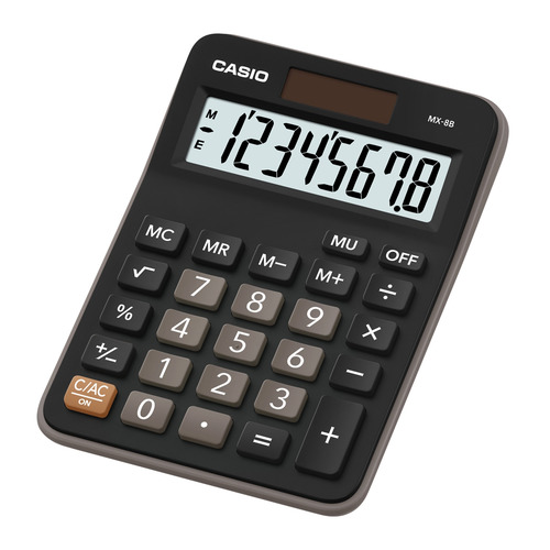 лучшая цена Калькулятор CASIO MX-8B, 8-разрядный, черный