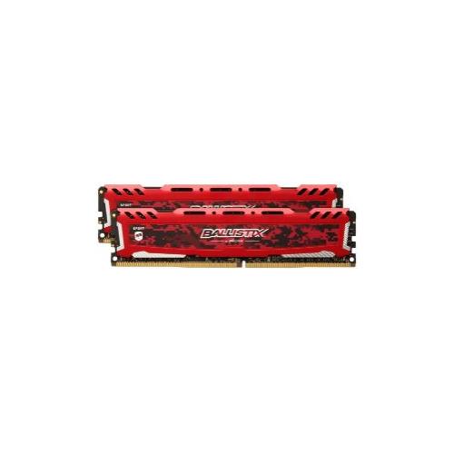 Модуль памяти CRUCIAL Ballistix Sport LT BLS2C16G4D240FSE/BLS2K16G4D240FSE DDR4 - 2x 16Гб 2400, DIMM, Ret модуль памяти crucial ballistix sport bls2c4g4d240fsa ddr4 2x 4гб 2400 dimm ret