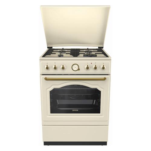 Газовая плита GORENJE K62CLI, электрическая духовка, бежевый цена 2017