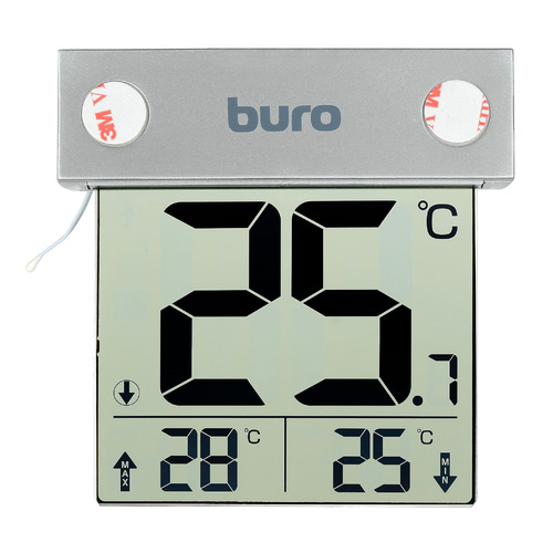 Термометр Buro P-6041, серебристый