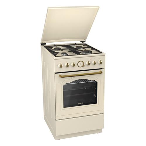 плита электрическая gorenje e 52102 aw Газовая плита GORENJE K52CLI, электрическая духовка, бежевый