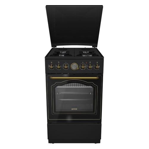 Газовая плита GORENJE K52CLB, электрическая духовка, антрацит цена 2017