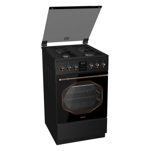 Газовая плита GORENJE K53INB, электрическая духовка, черный цена 2017
