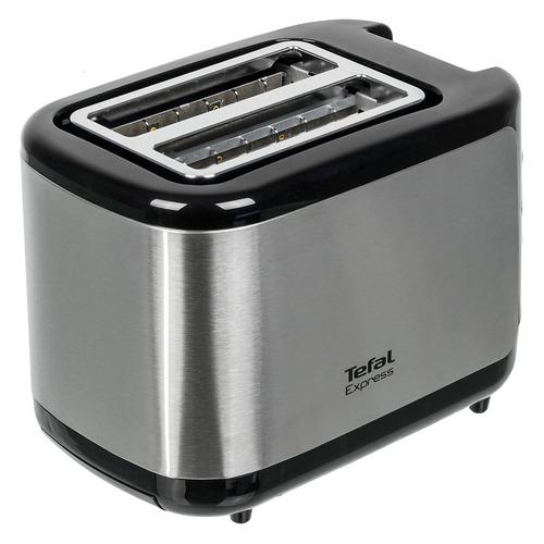 Тостер TEFAL TT365031, серебристый/черный [7211002582] тостер tefal tt330d30 серебристый черный