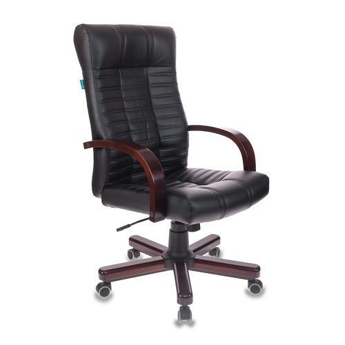 Кресло руководителя БЮРОКРАТ KB-10, на колесиках, искусственная кожа, черный [kb-10/walnut]