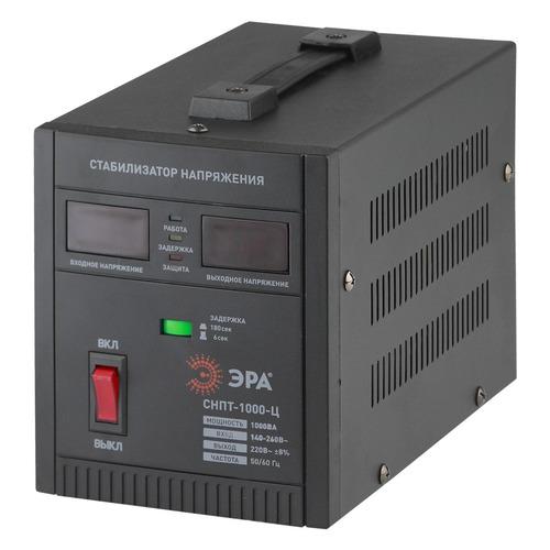 Стабилизатор напряжения ЭРА СНПТ-1000-Ц, черный [б0020158] эра стабилизатор sta 1000