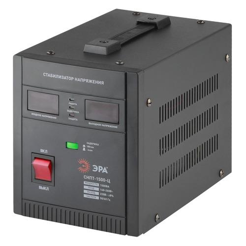 Стабилизатор напряжения ЭРА СНПТ-1500-Ц, черный [б0020159]