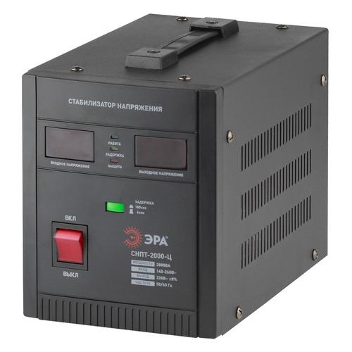 Стабилизатор напряжения ЭРА СНПТ-2000-Ц, черный [б0020160]