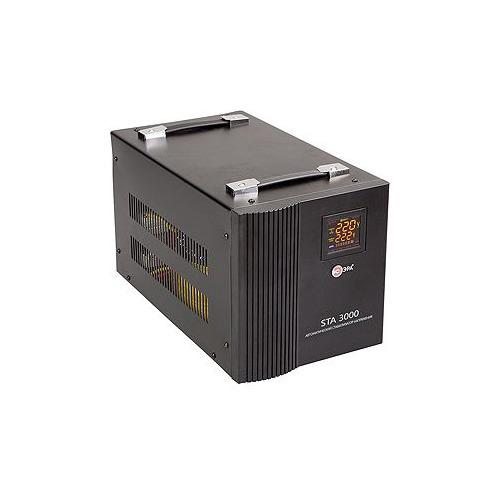 Стабилизатор напряжения ЭРА STA-3000, черный [c0036573] эра стабилизатор sta 1000