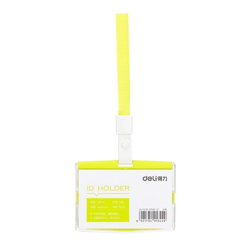 Упаковка бейджей для пропуска DELI 8304GREEN, 91х67мм, горизонтальный, полипропилен, зеленый 40 шт./кор. упаковка бейджей для пропуска deli 8306white 60х98мм вертикальный полипропилен белый 40 шт кор