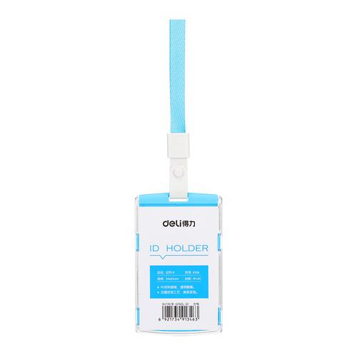 Упаковка бейджей для пропуска DELI 8306BLUE, 60х98мм, вертикальный, полипропилен, голубой 40 шт./кор. упаковка бейджей для пропуска deli 8306white 60х98мм вертикальный полипропилен белый 40 шт кор