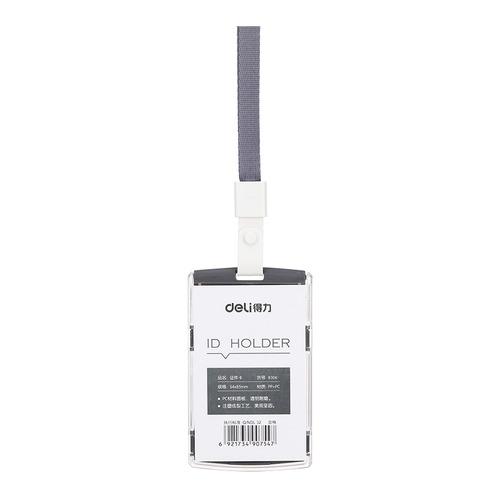 Упаковка бейджей для пропуска DELI 8306BLACK, 60х98мм, вертикальный, полипропилен, черный 40 шт./кор. упаковка бейджей для пропуска deli 8306white 60х98мм вертикальный полипропилен белый 40 шт кор