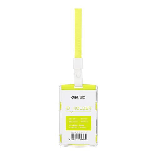 Упаковка бейджей для пропуска DELI 8306GREEN, 60х98мм, вертикальный, полипропилен, зеленый 40 шт./кор. упаковка бейджей для пропуска deli 8306white 60х98мм вертикальный полипропилен белый 40 шт кор