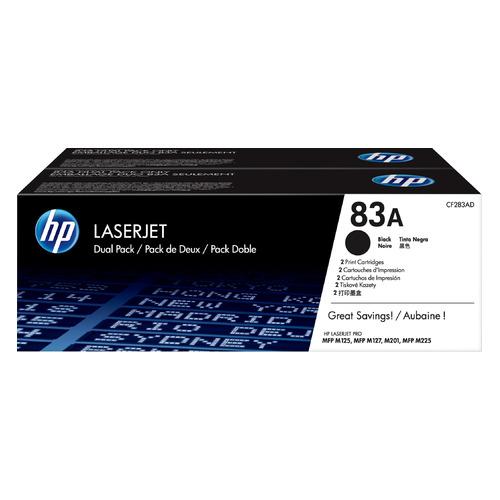 Картридж (двойная упаковка) HP 83A, черный [cf283af]