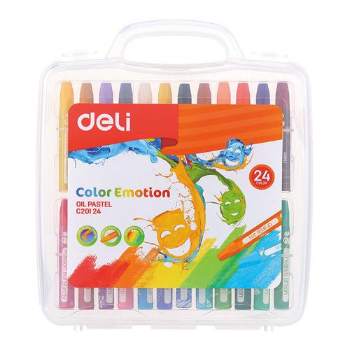 Упаковка пастели масляной DELI Color Emotion EC20124 EC20124, шестигранные, 24 цвета 12 шт./кор. упаковка мелков восковых deli colorun ec20820 ec20820 24 цвета 12 шт кор