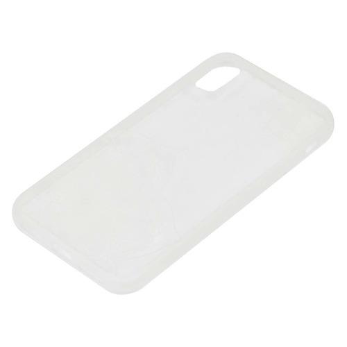 Чехол (клип-кейс) HAMA Lotus, для Apple iPhone X, прозрачный/белый [00181647]  - купить со скидкой