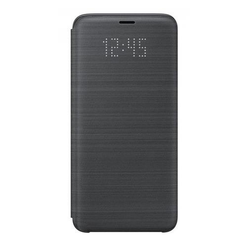 Чехол (флип-кейс) SAMSUNG LED View Cover, для Samsung Galaxy S9, черный [ef-ng960pbegru] samsung сенсорный