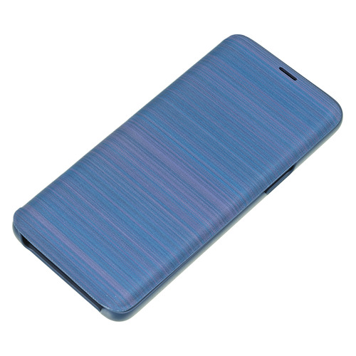 Чехол (флип-кейс) SAMSUNG LED View Cover, для Samsung Galaxy S9, синий [ef-ng960plegru]