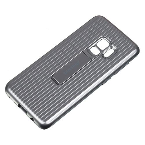 купить Чехол (клип-кейс) SAMSUNG Protective Standing, для Samsung Galaxy S9, серебристый [ef-rg960csegru] по цене 1620 рублей