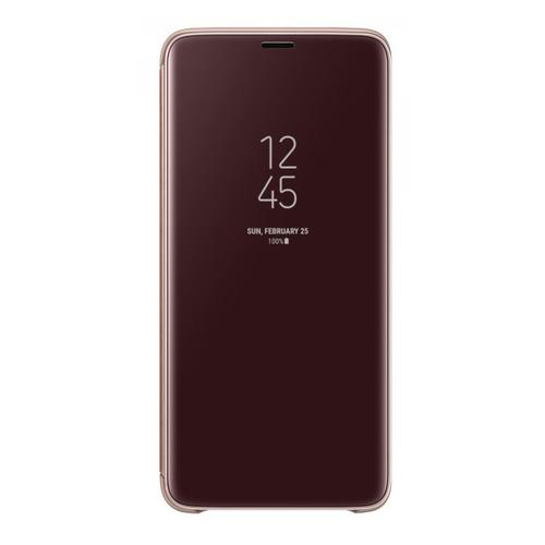 купить Чехол (флип-кейс) SAMSUNG Clear View Standing, для Samsung Galaxy S9+, золотистый [ef-zg965cfegru] по цене 3840 рублей