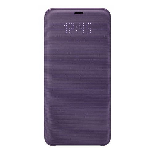 Чехол (флип-кейс) SAMSUNG LED View Cover, для Samsung Galaxy S9+, фиолетовый [ef-ng965pvegru]