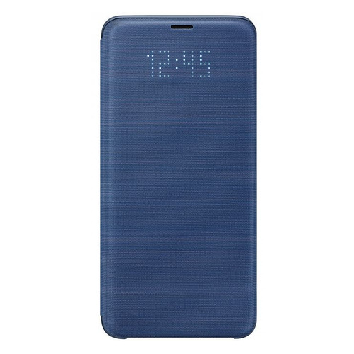 Чехол (флип-кейс) SAMSUNG LED View Cover, для Samsung Galaxy S9+, синий [ef-ng965plegru]