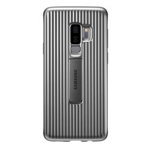 купить Чехол (клип-кейс) SAMSUNG Protective Standing, для Samsung Galaxy S9+, серебристый [ef-rg965csegru] по цене 1790 рублей