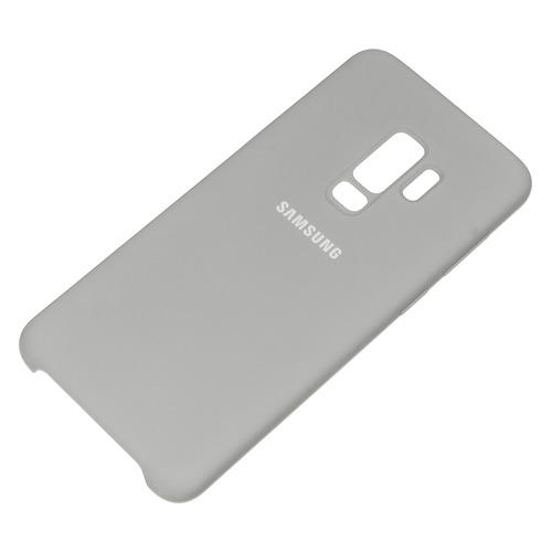 Чехол (клип-кейс) SAMSUNG Silicone Cover, для Samsung Galaxy S9+, серый [ef-pg965tjegru]  - купить со скидкой