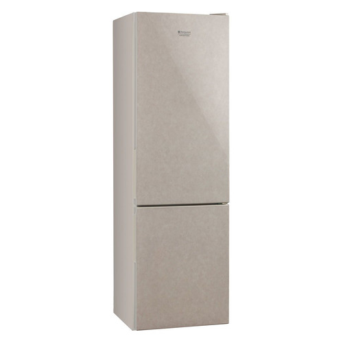 лучшая цена Холодильник HOTPOINT-ARISTON HF 4180 M, двухкамерный, бежевый стекло