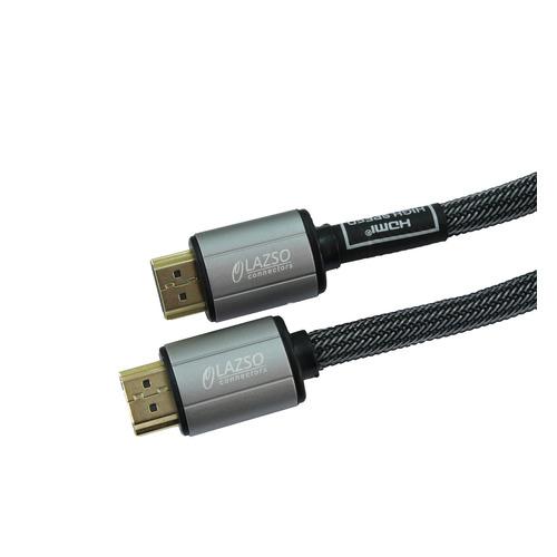 Фото - Кабель аудио-видео LAZSO WH-111-B, HDMI (m) - HDMI (m) , ver 2.0, 0.5м, GOLD черный видео