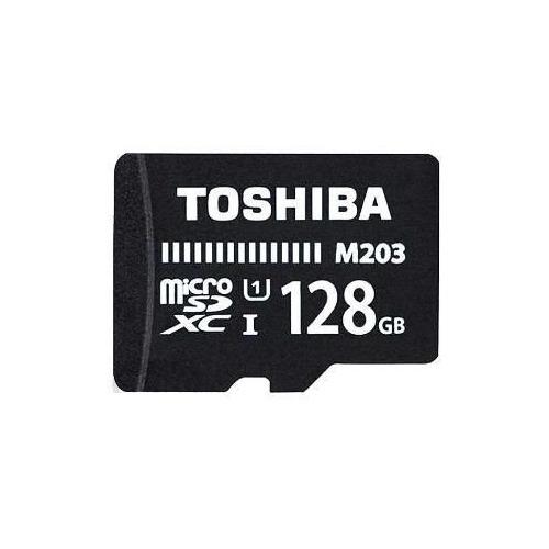 Фото - Карта памяти microSDXC UHS-I TOSHIBA M203 128 ГБ, 100 МБ/с, Class 10, THN-M203K1280EA, 1 шт., переходник SD переходник