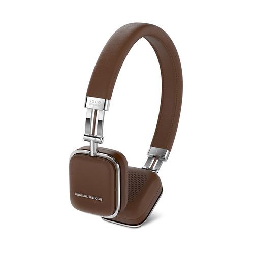 цена на Наушники с микрофоном HARMAN KARDON SOHO BT, 3.5 мм/Bluetooth, накладные, коричневый [hksohobtbrn]