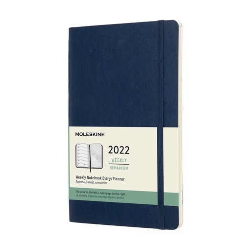 Еженедельник MOLESKINE Classic Soft WKNT, 144стр., синий сапфир [dsb2012wn3] еженедельник moleskine classic soft wknt 144стр синий сапфир [dsb2012wn2]