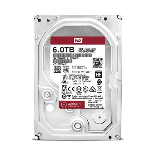 Жесткий диск WD Red Pro WD6003FFBX, 6Тб, HDD, SATA III, 3.5