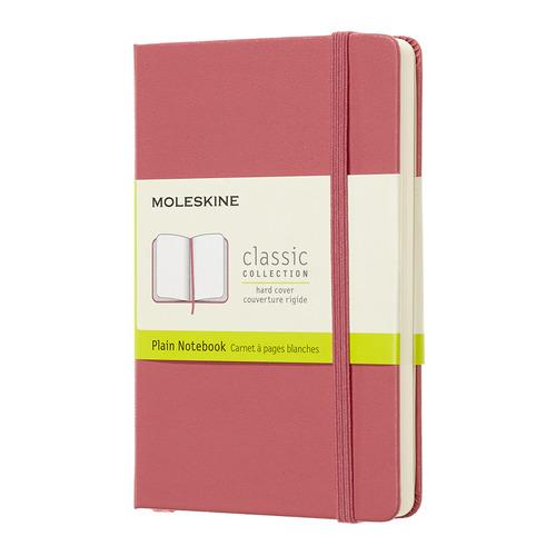 Блокнот MOLESKINE CLASSIC, 192стр, без разлиновки, твердая обложка, розовый [qp012d11] блокнот moleskine le sakura pocket 90x140мм обложка текстиль 192стр линейка темно розовый