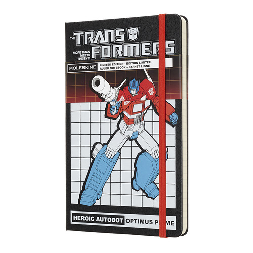 Блокнот Moleskine Limited Edition TRANSFORMERS Large 130х210мм 240стр. линейка OPTIMUS PRIME 2018 new transformers building blocks bumblebee optimus prime puzzle assembled toys gifts for children