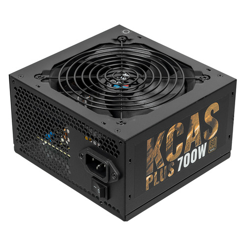 Блок питания AEROCOOL KCAS PLUS 700, 700Вт, 120мм, черный, retail [kcas-700w plus] 1stplayer black widow 500w active pfc high performance atx power supply 80 plus bronze certified full modular