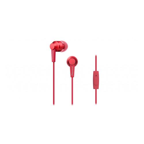 цена на Наушники с микрофоном PIONEER SE-C3T-R, 3.5 мм, вкладыши, красный
