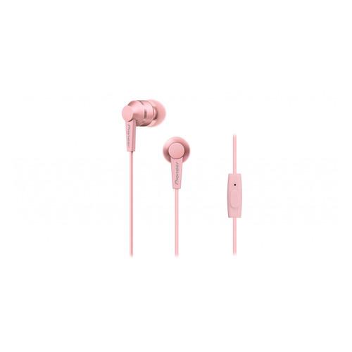 Фото - Наушники с микрофоном PIONEER SE-C3T-P, 3.5 мм, вкладыши, розовый гарнитура вкладыши pioneer se ql2t p 1 2м розовый матовый проводные в ушной раковине
