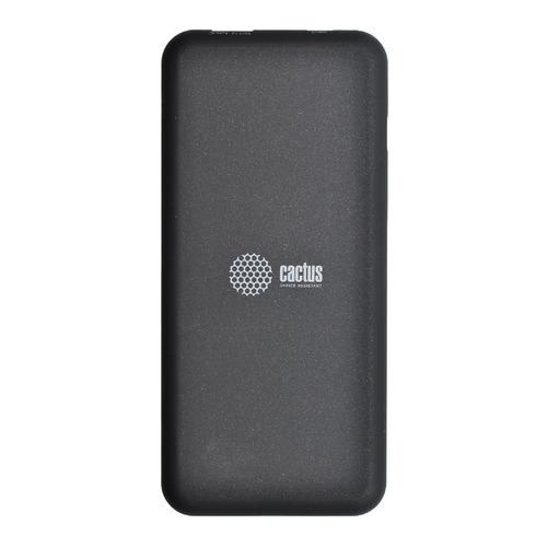 Внешний аккумулятор (Power Bank) CACTUS CS-PBHTWL-6000, 6000мAч, черный цена и фото