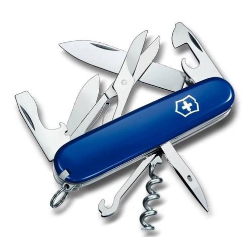 цена на Складной нож VICTORINOX Climber, 14 функций, 91мм, синий