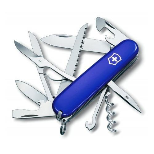цена на Складной нож VICTORINOX Huntsman, 14 функций, 91мм, синий