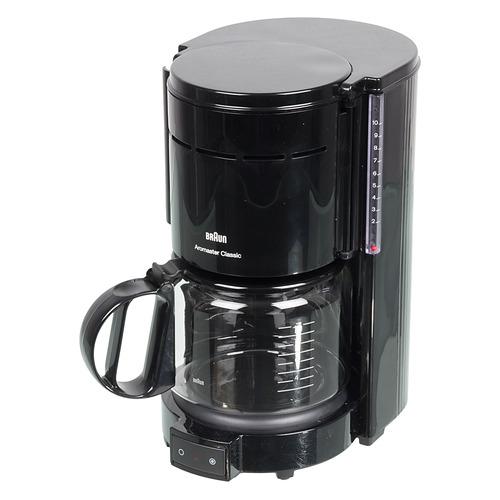 Кофеварка BRAUN KF47/1, капельная, черный [0x13211003] кофеварка капельная braun kf 560 1 с фильтром brita