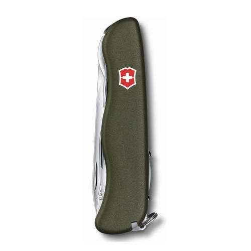Складной нож VICTORINOX Outrider, 14 функций, 111мм, зеленый складной нож victorinox picknicker 11 функций 111мм зеленый