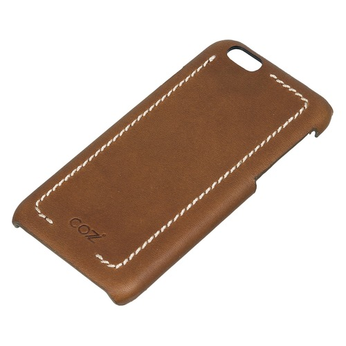 Чехол (клип-кейс) Cozistyle Leather Wrapped, для Apple iPhone 6/6S, коричневый [clwc6012] клип кейс interstep ring для apple iphone 6 6s черный