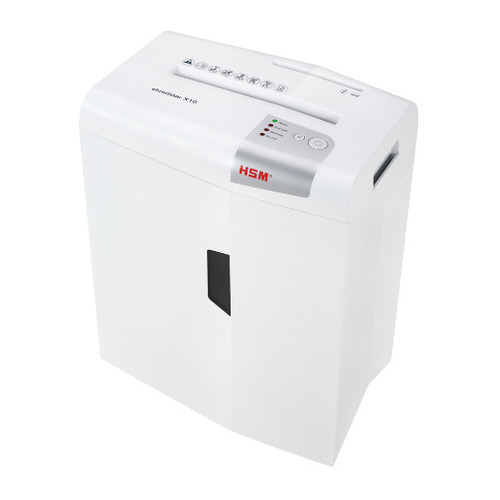 Уничтожитель бумаг HSM ShredStar X10-4.5x30, P-4, 4х35 мм, 10 лист. одновременно, 21л [1045111] shredstar x10 4x30 мм белый