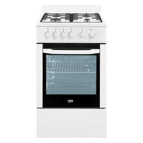 Газовая плита BEKO FFSS52000W, электрическая духовка, белый цена 2017