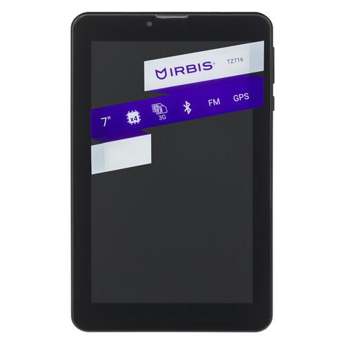 Планшет IRBIS TZ716, 1GB, 8GB, 3G, Android 7.0 черный планшет irbis tz731 7 8gb черный wi fi bluetooth 3g android