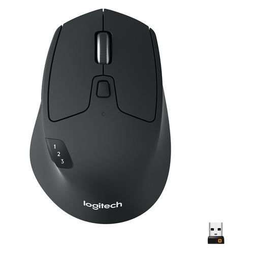 лучшая цена Мышь LOGITECH M720 Triathlon, оптическая, беспроводная, черный [910-004791]